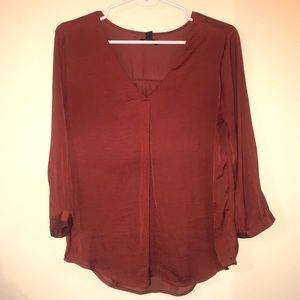 Rusty Red Gap Blouse